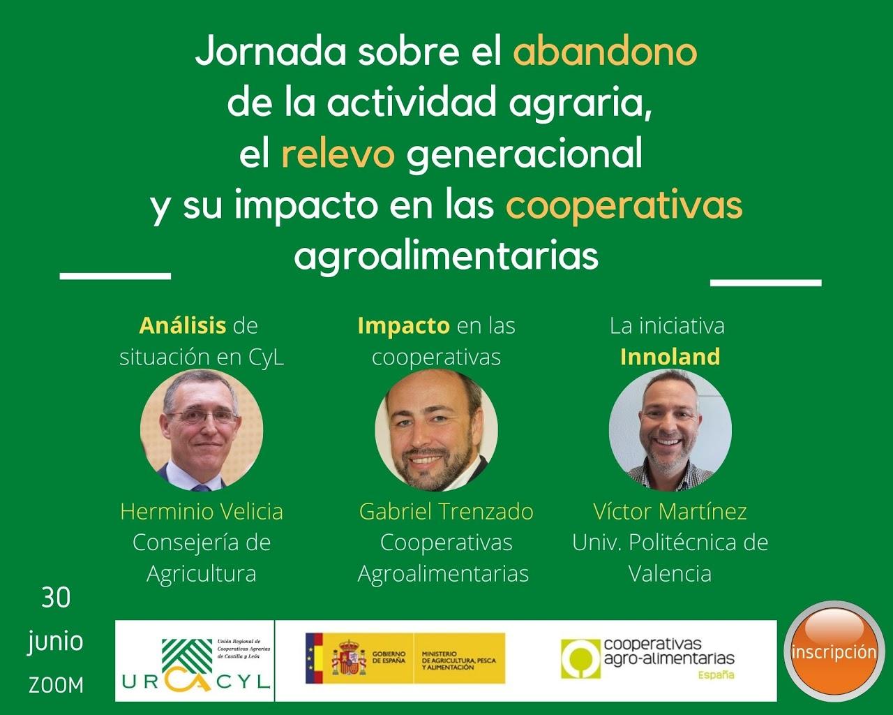 Cartel Jornada abandono, relevo y cooperativas